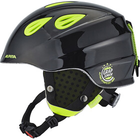 Alpina Grap 2.0 Ski Helmet Juniors black-neon-yellow